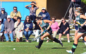 Mainl Field Hoc: Mainland 3 Vanessa Pagliei breaks away during the first period. Monday September 23 2013 Mainland at Atlantic City girls Field Hockey. (The Press of Atlantic City / Ben Fogletto) - Ben Fogletto