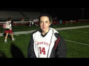 Ocean City's Kelly Hanna talks about Ocean City's South Jersey title, Nov. 13, 2012