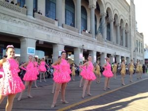 Miss A Shoes: Performers participate in the Miss America 'Show us your Shoes' parade Saturday on the Atlantic City Boardwalk - Dale Gerhard