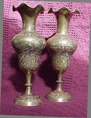 Brass Vase - Antique Floor Lamps