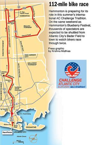 bike triathlon map