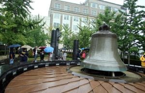 """Freedom ring"" bell-ringing ceremony at the Civil Rights Garden in Atlantic City"