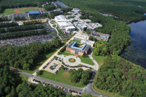 Stockton Aerial: Richard Stockton College's campus is located in Galloway Township.  - Susan Allen