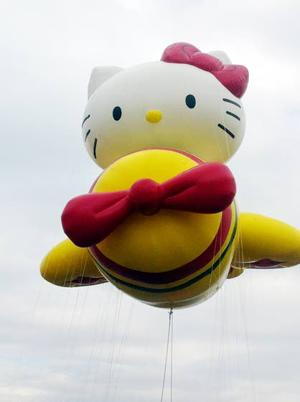 Pop-culture parade balloons unite spectators on Thanksgiving Day