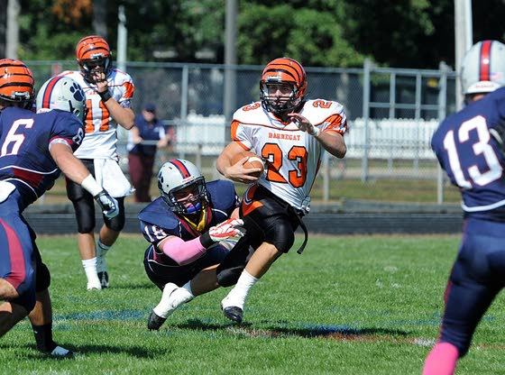 Barnegat football holds its ground for first win over Lacey Township