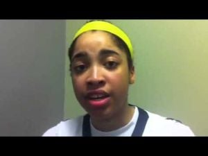 Gina Lewis CAL championship post game interview