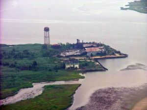 Sky-high Help: The abandoned fish cannery near Tuckerton is seen here on a recent Maritime Observation Mission by a volunteer Coast Guard air crew.