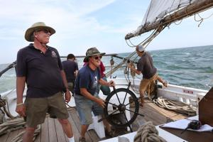 AJ Meerwald sails with Maritime Campers