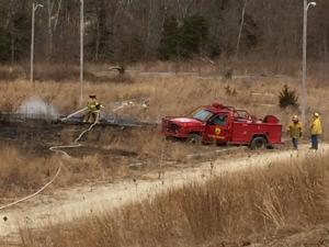 Pleasantville brush fire