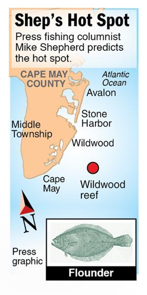 Shep Hot Spot flounder Wildwood Reef