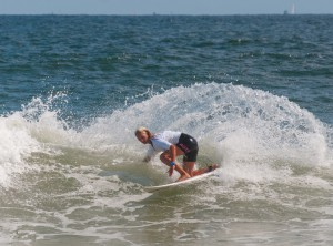 Ventnor's Cassidy McClain cuts back on a wave during the Belmar Amateur on ...
