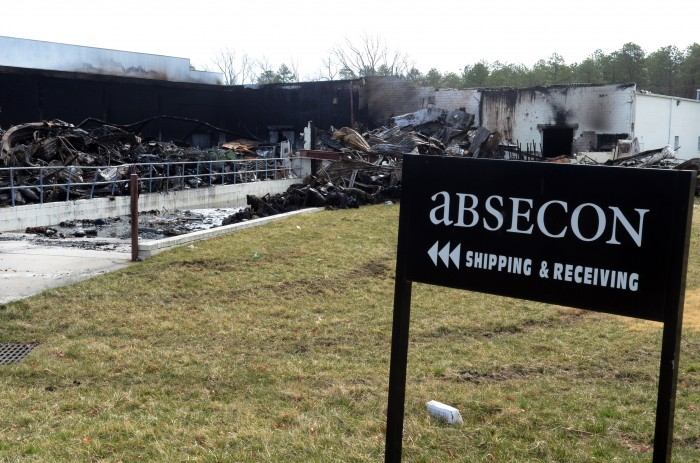 About 100 people out of work after fire damages absecon mills textile