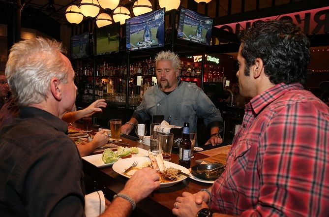 Guy Fieri visited his new restaurant called Guy's Chophouse
