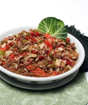 Celebrate St. Patrick's Day with this healthy cabbage and turkey ragout
