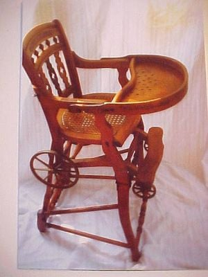 Antiques & Collectibles: Convertible highchair is an unusual heirloom