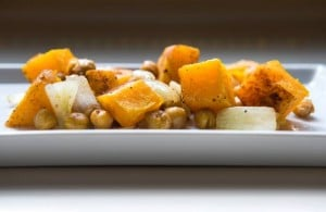 Roasted butternut squash and chickpeas fit in anywhere