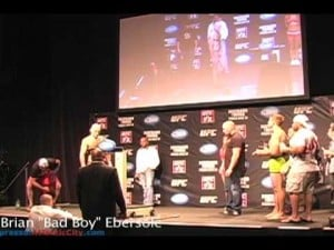 Weigh-ins for Gray Maynard-Clay Guida and other main bouts for UFC Fight Night; June 21, 2012
