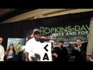 Chad Dawson vs. Bernard Hopkins weigh-in