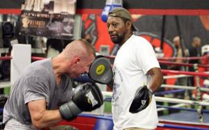 Boxing trainer Bill Johnson