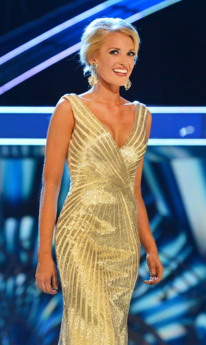 Miss America 1 PRELIMS: Miss Mississippi Chelsea Rick was the winner in the  fitness and evening gown portion of the first night of Miss America preliminary competition Tuesday at Boardwalk Hall. - Photo by Ben Fogletto