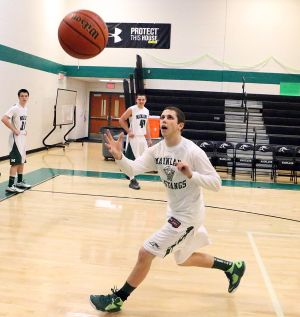 School Drug Testing: Ben Kleva, 17, of Linwood is student and basketball player at Mainland High School. - Edward Lea