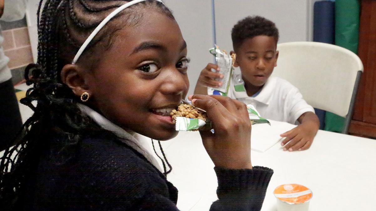 After school snack at Boys and Girls Club
