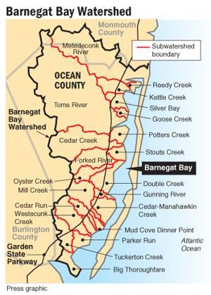 Barnegat Bay Watershed map