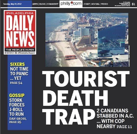 Horrific crime, horrific headline / Over the top