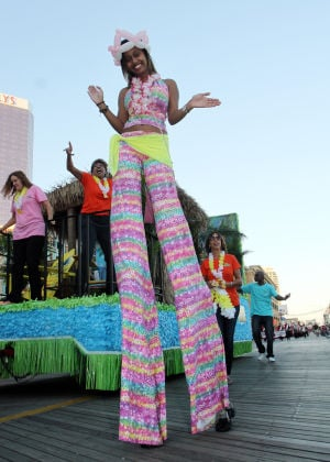 "Miss America Parade: Performers from Margaritaville. Miss America ""Show Me You Shoes"" Parade on the Atlantic City Boardwalk Thursday Sept. 12, 2013,. (Dale Gerhard Photo/Press of Atlantic City) - Dale Gerhard"