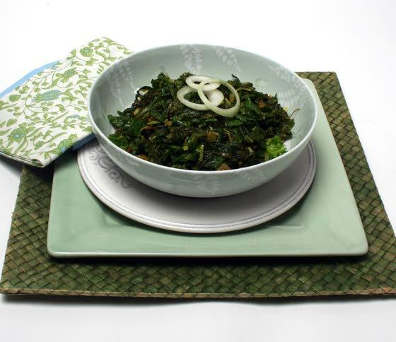 Curried mustard greens are a tasty Indian adventure