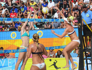 AVP Volleyball Finals: The AVP beach volleyball tournament was held in Atlantic City in September. - Staff photo by Ben Fogletto