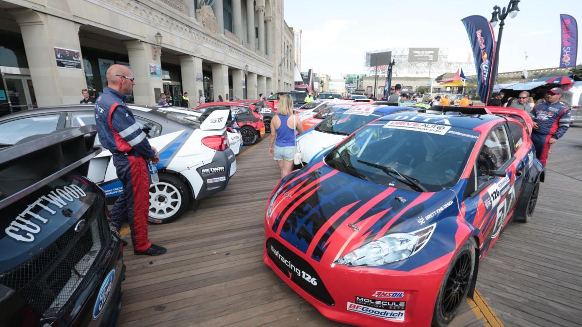 Red Bull Rallycross parades down A.C. Boardwalk Friday night