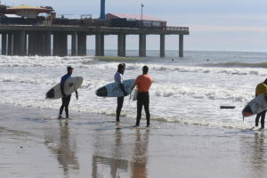 SURFING FOR CANCER: The Dean Randazzo Cancer Foundation hosts the 5th Annual ???Freeze for a Cause??? surf contest at the Steel Pier. Event raises funds to to, promote cancer awareness and assist individuals battling cancer both financially and emotionally. - Edward Lea