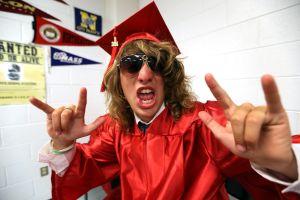 OCHS Graduation: Dylan DiMeglio, 17 of Ocean City pose for a photo before the start of Ocean City Graduation Friday, June 20, 2014. - Edward Lea