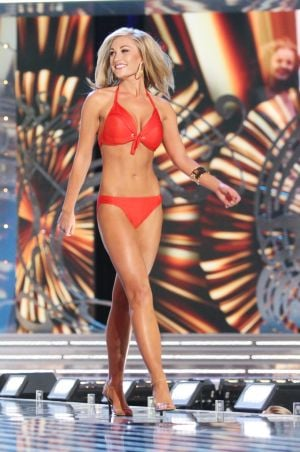 Miss America 2 PRELIMS: Miss Utah Ciera Pekarcik contestant walks the runway during swimsuit portion of the preliminary second round of the Miss America pageant at Boardwalk Hall in Atlantic City, New Jersey, September 11 2013 - Photo by Edward Lea