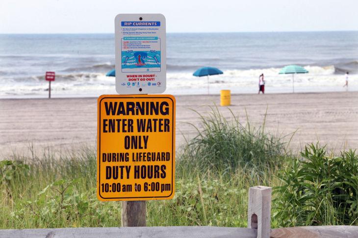 Beach Danger Signs Danger Beach Signs Warn