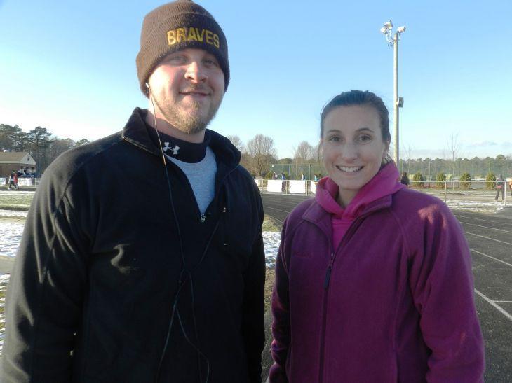 Top staff finishers in the Jingle Bell Run