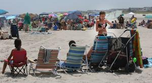 Beach day at 57th Street in Sea Isle