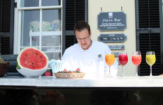 Cape May's Veranda Bar serves up juices from produce grown in West Cape May