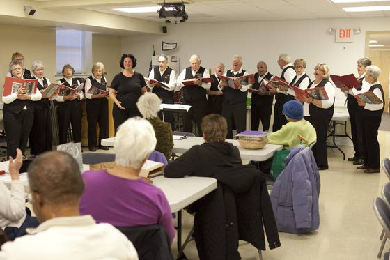 Seven Mile Island Singers' tunes brighten group meeting for AARP