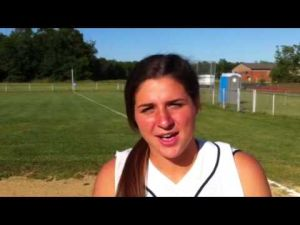 Sacred Heart softball player Gabby Castellini