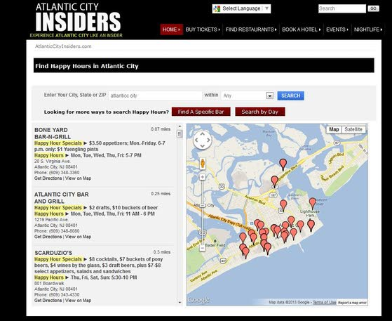 Find Atlantic City's best happy hours on Insiders