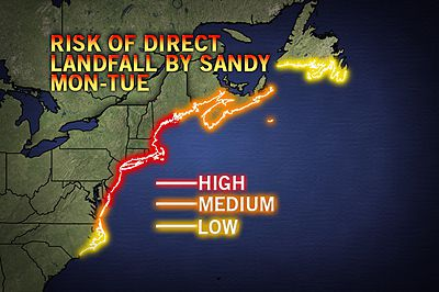 sandy landfall