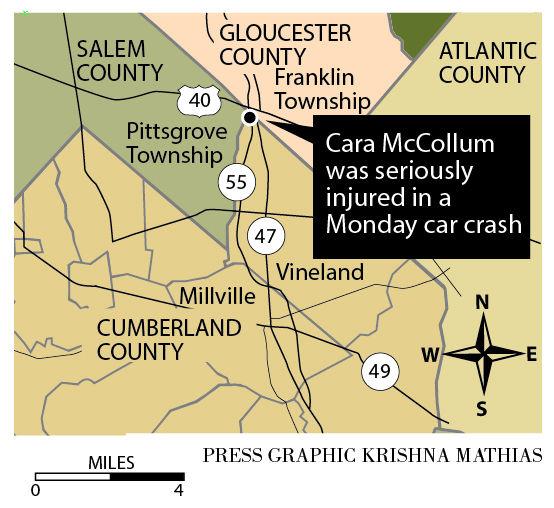 Cara McCollum accident map
