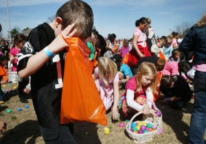 Helicopter Easter Egg Drop in Somers Point
