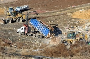 Sandy effect on Landfills