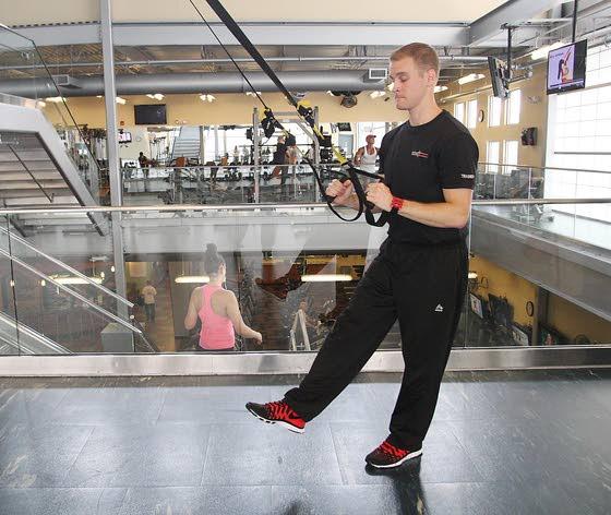 Your Workout: TRX pistol (one-leg squat)