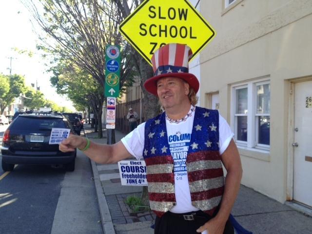 Joe Rechten, of Atlantic City, during Atlantic City primary