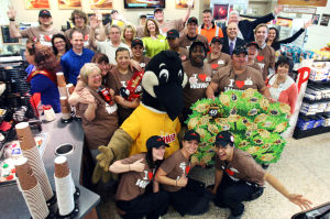 : Wawa employees celebrate at the store on Rio Grande Ave in Wildwood. Wawa held a celebration honoring its long term employees at the Doo Wop themed store on Rio Grande Ave in Wildwood. Friday May 11, 2012. (Dale Gerhard/Press of Atlantic City) - Dale Gerhard