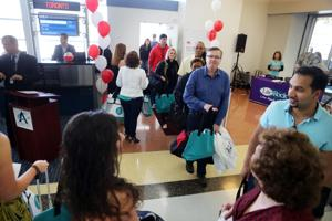 First Air Canada flight touches down at Atlantic City International
